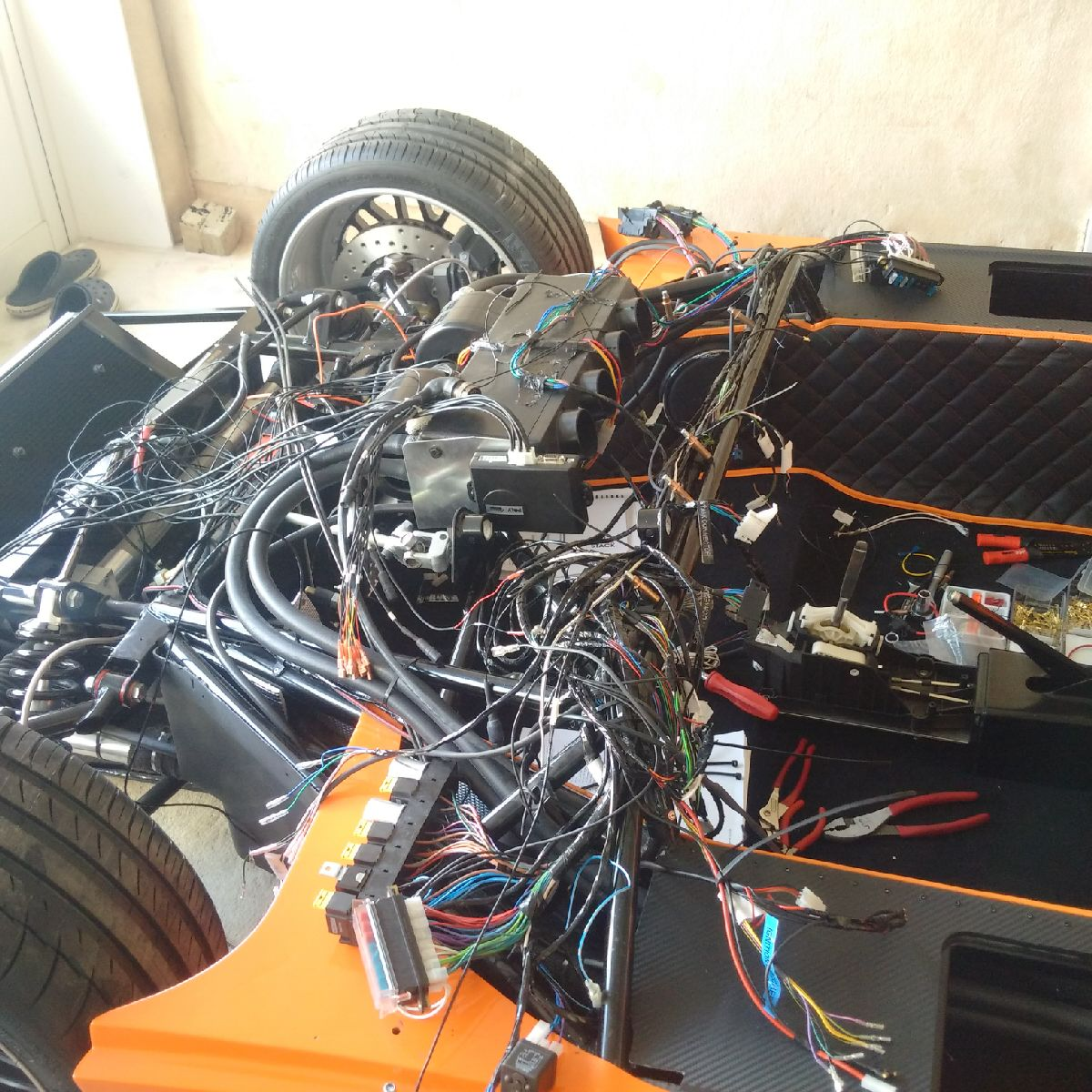Huzis Ultima Evolution Build Motor Wiring Diagram Also Remaining Will Be To Cable Tie Zip And P Clip All The Wires Running Across Dash Chassis Rails At Proper Intervals